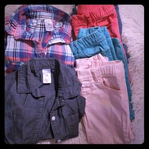 Girl's 3t jeggings lot/with 2 shirts